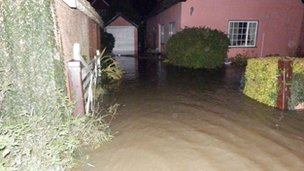 Flooded house in Waldringfield