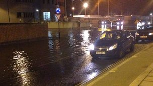 Flooding in Harwich