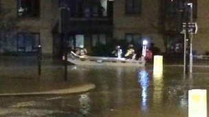 Boat in Lowestoft streets