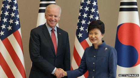 Biden in Seoul amid Asia tensions...