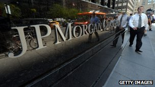 JP Morgan sign