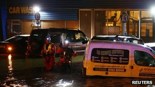 Rescue workers in Great Yarmouth