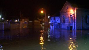 Flooding in Faversham