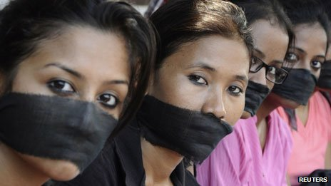 A protest against the gang rape of a journalist