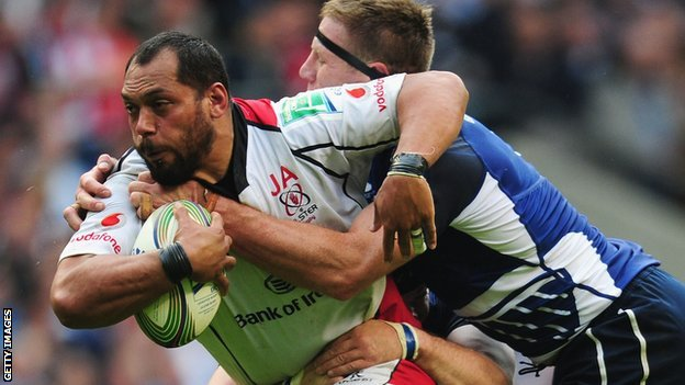 John Afoa playing for Ulster