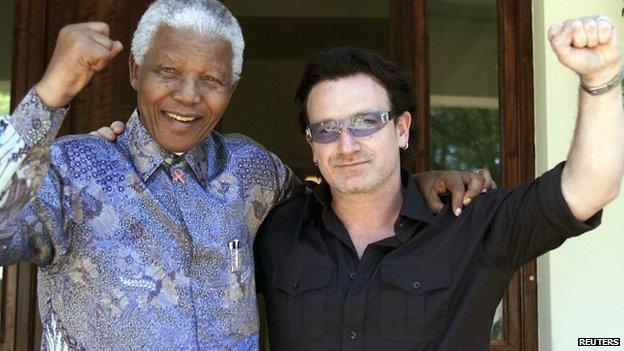 Nelson Mandela and Bono