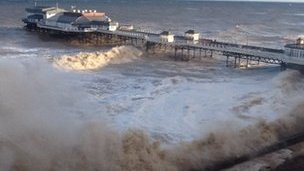 High tides in Cromer, Norfolk on Friday, 6 September