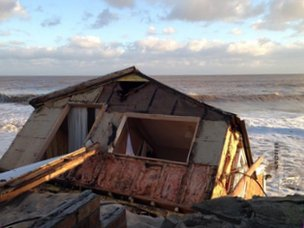 Collapsed house at Hemsby