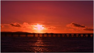 Despite the stormy weather there was a beautiful sunset over the Tay Rail Bridge on Thursday evening, says Liam Yule of Auchterhouse.