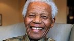 Nelson Mandela in a file photo from 2010