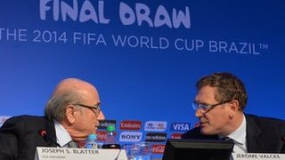 Fifa president Sepp Blatter (L) and general secretary Jerome Valcke