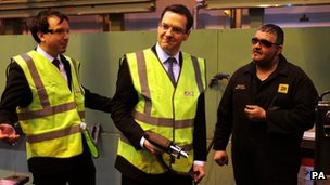 George Osborne at JCB