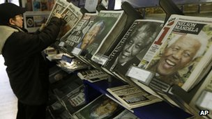 newspaper stand in London