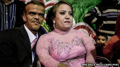 Gamal and Nada - both members of the  - marry in Egypt