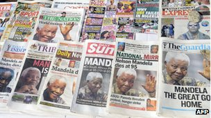 Newspaper stand in Lagos