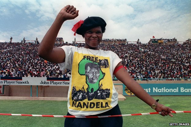 ANC supporter pictured at rally in 1990