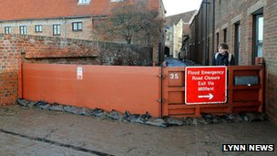 Flood gate in King's Lynn