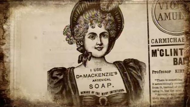 "An advert for ""arsenical soap"""