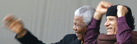 Mandela and Colonel Gaddafi