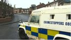 Police sealed off a number of streets in the area following the gun attack