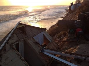Steven Connelly's chalet collapse in Hemsby