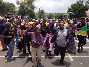 celebratory scenes in Soweto