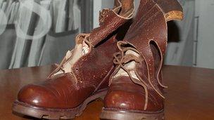 Nelson Mandela's boots