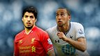 Luis Suarez and Andros Townsend