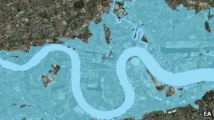 Flooding without Thames Barrier