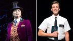 Douglas Hodge as Willy Wonka in  Charlie and the Chocolate Factory and Gavin Creel as Elder Price in The Book of Mormon