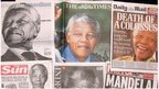 The death of Nelson Mandela