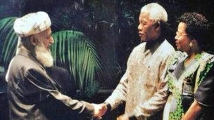 Nelson Mandela with Late professor Burhanudin Rabbani