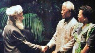 Nelson Mandela with Late professor Burhanudin Rabbani