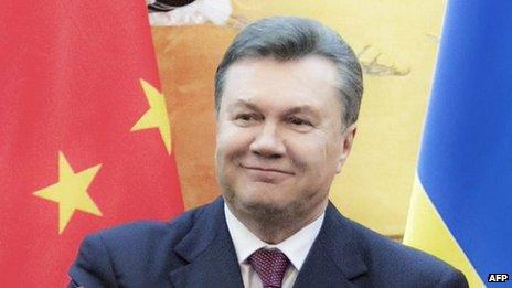 Ukraine's President Viktor Yanukovych in China, 5 Dec 13