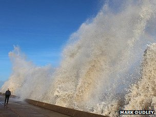 Waves at North Denes, Lowestoft