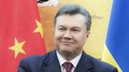 Ukraine's President Viktor Yanukovych in China, 5 Dec 13
