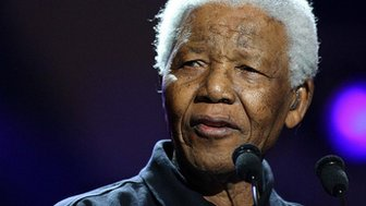 Nelson Mandela at Live8 in 2005