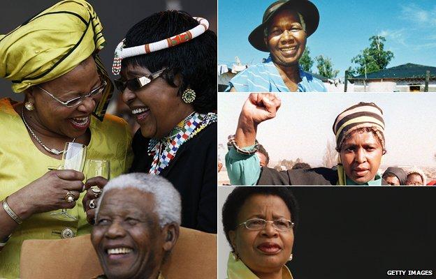 Nelson Mandela's former wives
