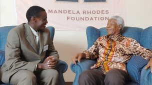 Pie-Pacifique Kabalira-Uwase meeting Nelson Mandela