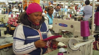 Workers at a clothing factory near Johannesburg