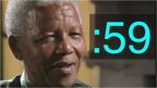 Nelson Mandela and a 59-second symbol