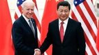 US vice president Joe Biden shakes hands with Chinese president Xi Jingping in Beijing on December 4, 2013.