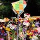 Flowers outside Mr Mandela's home. Photo: Nasima Joulay