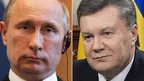 Vladimir Putin and Viktor Yanukovych (file images)