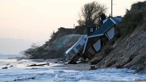 Collapsed house at Hemsby, Norfolk