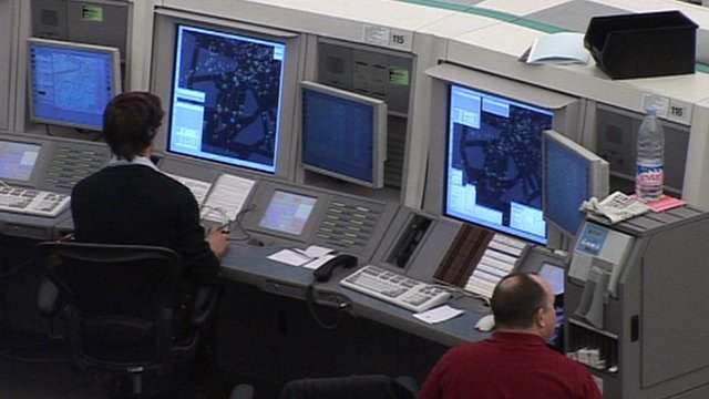 Operators at the National Air Traffic Services in Hampshire