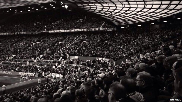 Newcastle United fans at Old Trafford