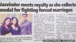 Jasvinder Sanghera in the Derby Evening Telegraph
