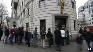 People queuing outside the South Africa High Commission
