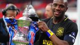 Wigan Athletic captain Emmerson Boyce with the FA Cup at Wembley